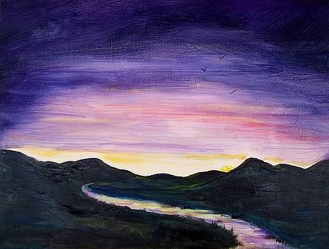 Purple Sunset by Joan Mace