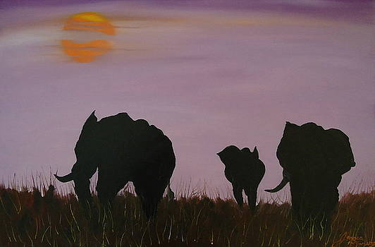 Purple Sunset Of The Congo by Portland Art Creations