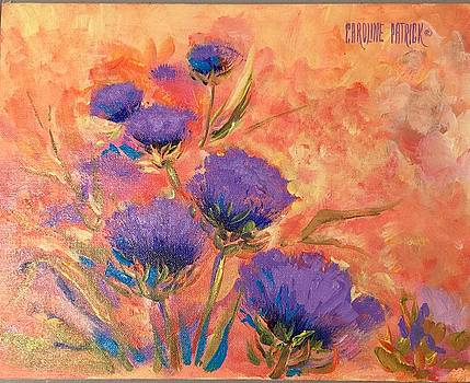 Purple Thistles by Caroline Patrick