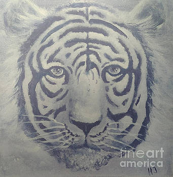 Purple tiger by Heather James
