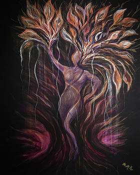 Purple Tree Goddess by Michelle Pier