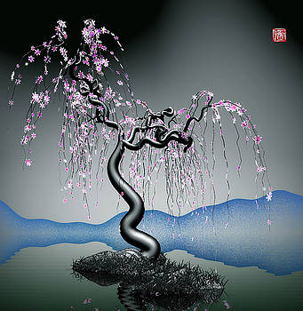 Purple tree in water 2 by GuoJun Pan