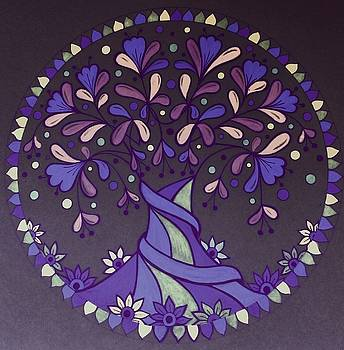 Purple tree4 by Jilly Curtis