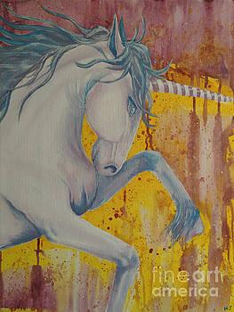 Purple unicorn by Heather James
