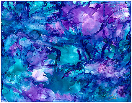 Purple Urchins by Cathlyn Driscoll