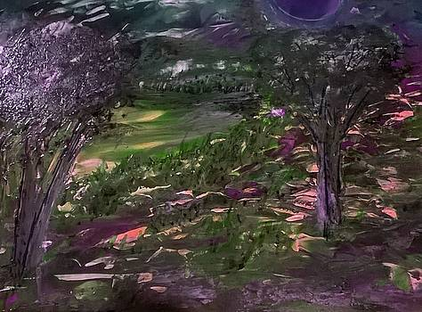 Purple Valley at Dusk by CA Simonson