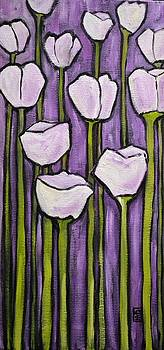 Purple Violets by Holly Donohoe