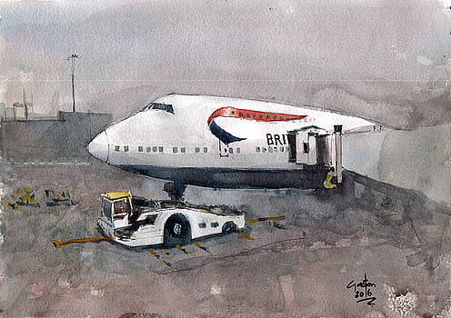 Push Back 747 Style London by Gaston McKenzie