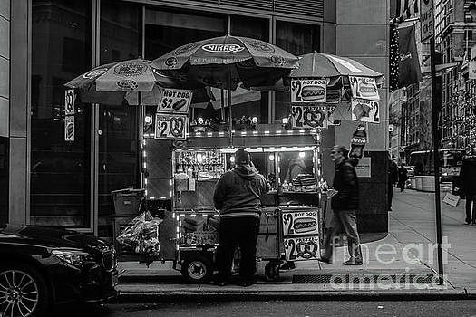 Pushcart Vendor Manhattan by Thomas Marchessault