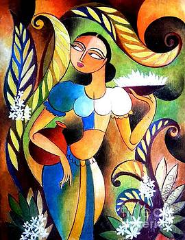 Pushpa One Of The Village Lady by Ceylon Art Gallery