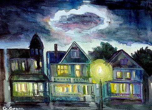 Putnam Street Dusk by George Grace