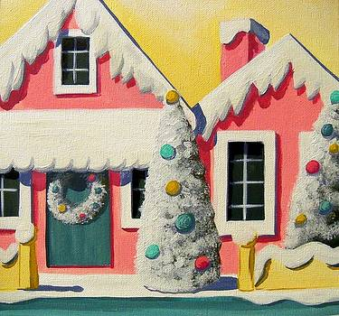 Putz House - Christmas vintage by Debbie Criswell