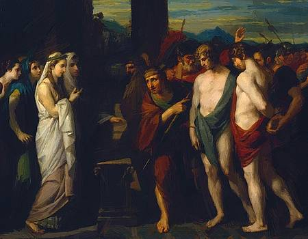 West Benjamin - Pylades And Orestes Brought As Victims Before Iphigenia 1766
