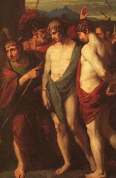 West Benjamin - Pylades And Orestes Brought As Victims Before Iphigenia Detail