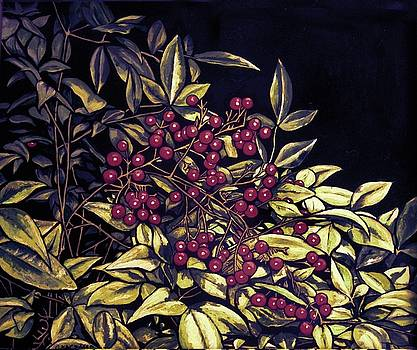 Pyracantha Berries in Yellow and Gold by Olga Kaczmar
