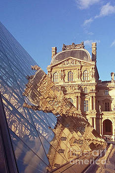 Pyramid Reflections at the Louvre by Alex Cassels
