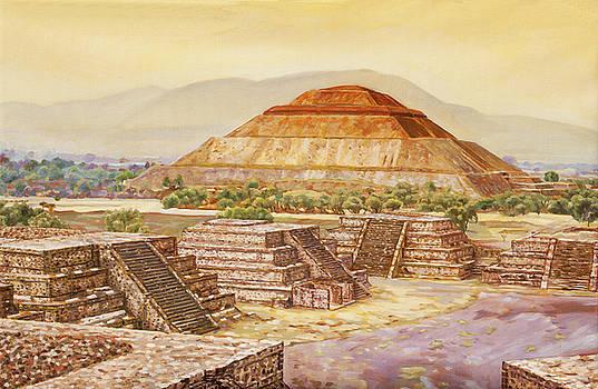 Pyramids At Teotihuacan by Dominique Amendola