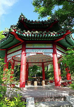 Qiet Pavilion in Chinese Park by Yali Shi