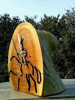 Qijote bark clock by Calixto Gonzalez