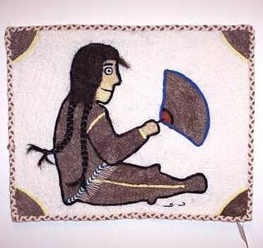 Qiviut Sedna With Ulu by Agnes Nulluq Iqqugaqtuq
