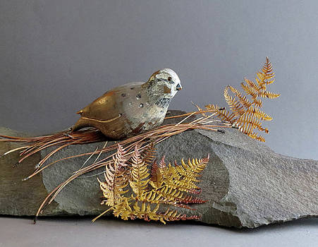 Quail Carving   by Bruce Peterson