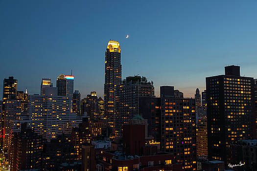 Quarter Moon Over Manhattan by Madeline Ellis
