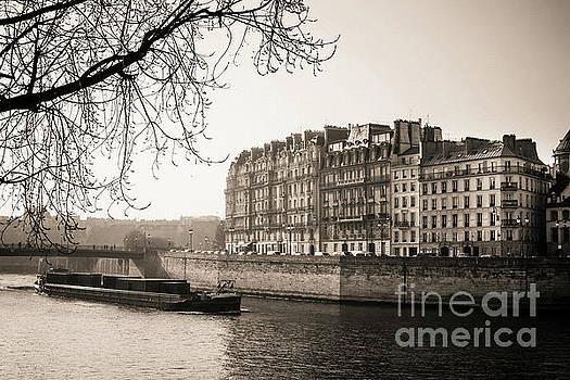 Quays of the Seine and ile Saint-Louis. Paris. France. Europe. by Bernard Jaubert