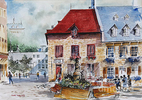 Quebec City Flower Boxes by Monte Toon