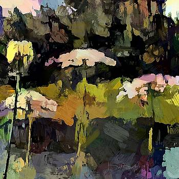Queen Anne's Lace by the Pond by Don Berg
