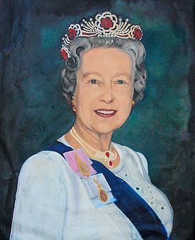 Queen Elizabeth - a mirror image by Jeanne Silver