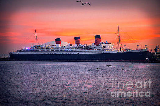 Queen Mary Sunset by Mariola Bitner