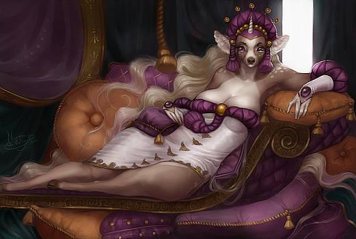Queen of Pillows  by Martina Da Bologna