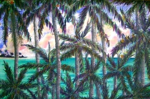 Queen Palm Bay View  by Ana Bikic