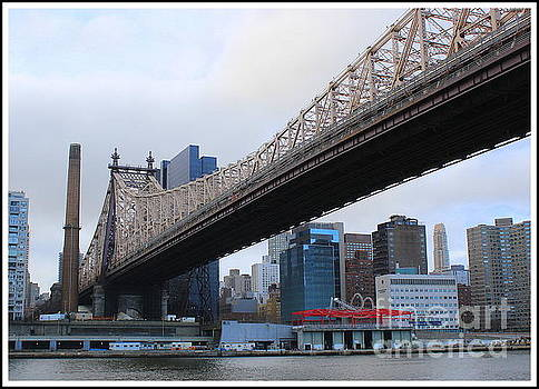 Queensborough Bridge in New York City - A View from Four Freedoms Park by Dora Sofia Caputo Photographic Art and Design