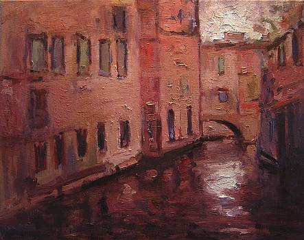 Quiet canal in Venice III by R W Goetting