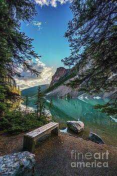 Quiet Lake Moraine Solitude by Mike Reid