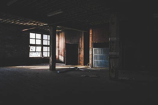 Quiet Light - Abandoned Building Interior by Dylan Murphy