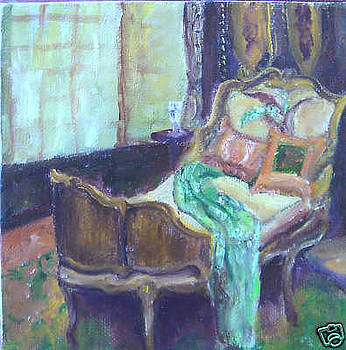 Quiet Moment - Vibrant still life painting by Virgilla Lammons