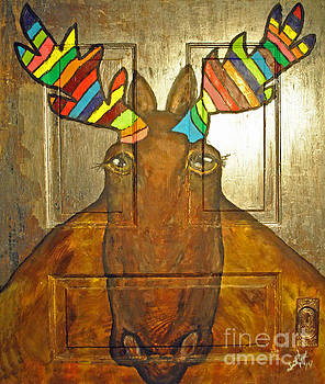 Jost Houk - Quigley the Rustic Colorful Moose