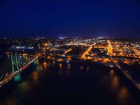 Quincy, Illinois at Night by Robert Turek