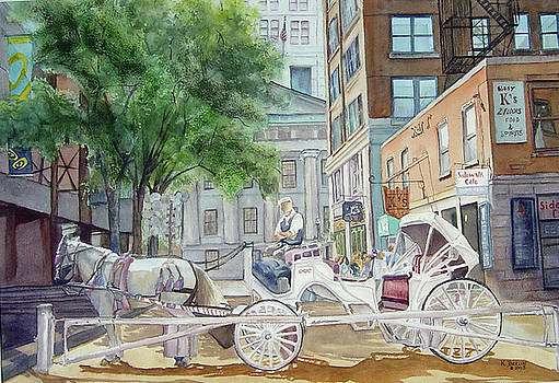 Quincy Market II by Katherine  Berlin
