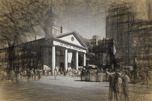 Quincy Market in Boston by Thomas Logan