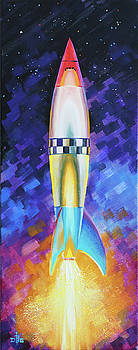 Quintesential Rocketship by David Bader