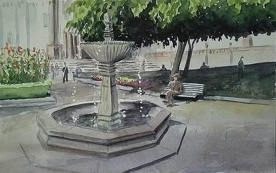 Quito Fountain by Lou Baggett
