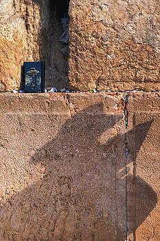 Rabbi at the Wailing Wall - Jerusalem by Stephen Fanning