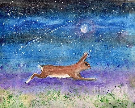 Rabbit Crossing The Galaxy by Doris Blessington