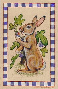 Rabbit Eating Figs by Beth Clark-McDonal