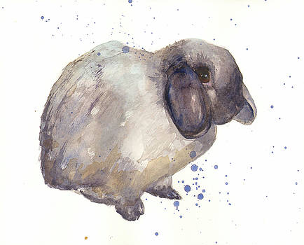 Rabbit print by Alison Fennell