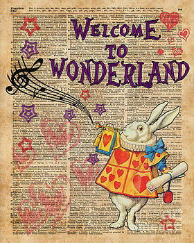 Rabbit Welcome To .. Alice In Wonderland by Anna W