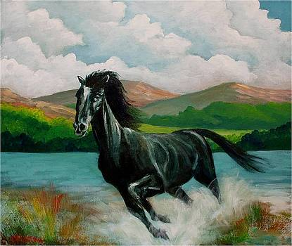 Racing horse by Jean Pierre Bergoeing
